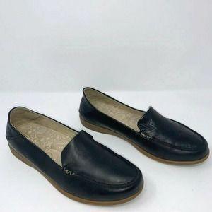 Olukai Loafer Flat Shoes Black Leather Slip On 9
